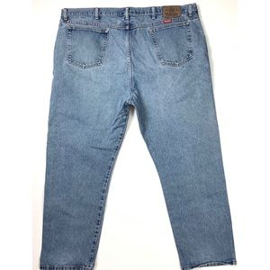 Mens Wrangler Relaxed Work Jeans (46W x 30L)